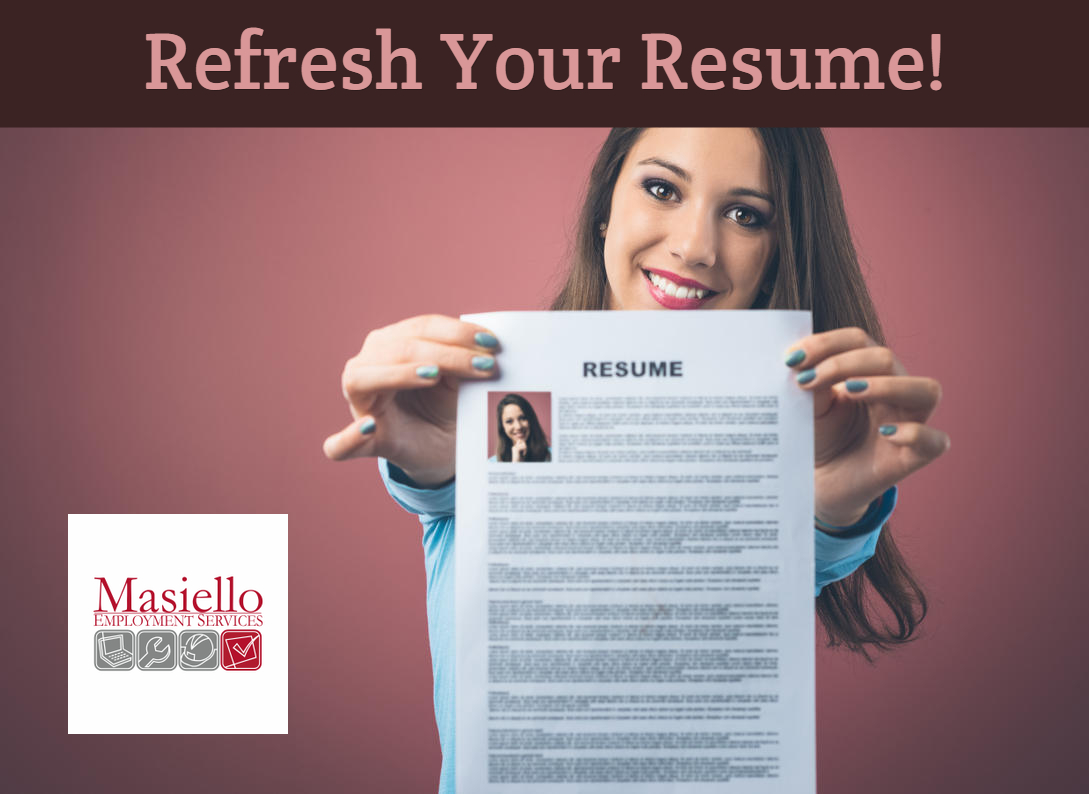 Resume Refresh Masiello Lic