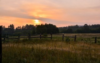 Field and Sunset - Monadnock NH